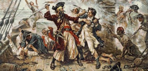 The Capture of the Pirate Blackbeard, 1718